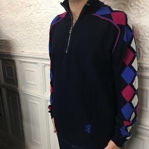 Pringle Navy Sweater XL Geelong Lambswool